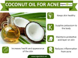 how does coconut oil help in acne treatment organic facts