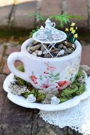Miniature Tea Cups Favors by Inspired Miniature Tea Cup Garden And Saucer Flower Planter