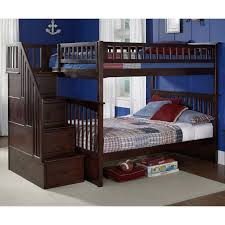 Bunk Bed With Storage Stairs Columbia Full Full Bunk Bed W Storage Stairs Dcg Stores