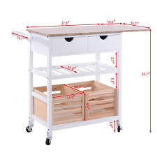amazon com costzon kitchen trolley island cart dining storage