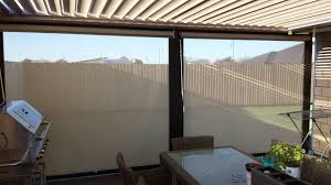 outdoor room looking inside out with a louvretec opening roof and