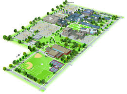 American University Campus Map University Maps Neiu Brand