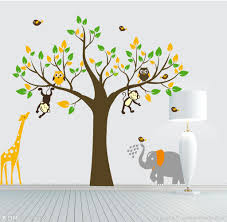 Animal Wall Decals For Nursery by Giraffe Monkey Tree Wall Art Stickers Kids Nursery Vinyl Decal