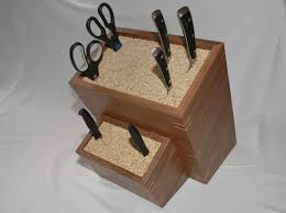 handmade custom made knife block by clark wood creations