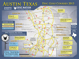 Austin Tx Maps by Disc Golf Superstore Disc Nation The Original