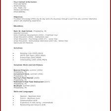high student resume for summer internship shocking high student resume format template pdf no