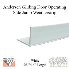 Patio Door Weatherstripping Side Jamb Weatherstrip Non Handed Inside 6 8 Operating White