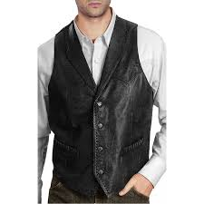 leather vest design men u0027s vintage black leather vest