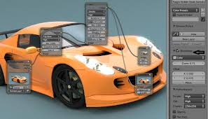 modeling and rendering a car in blender and photoshop instantshift