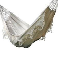 castaway 11 ft capri canvas hammock with fringe slfs nat the