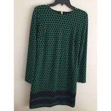 86 off michael kors dresses u0026 skirts green and navy polka dot