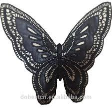 butterfly embroidery neck lace neck patch cotton kurta neck