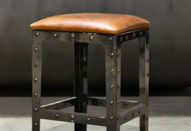 Counter Height Bar Stool Bar Modern Gray Leather Low Back Adjustable Height Counter Stool