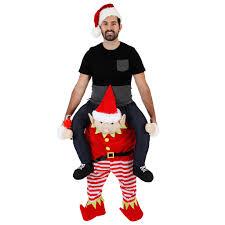 piggyback ride on costume sweaters