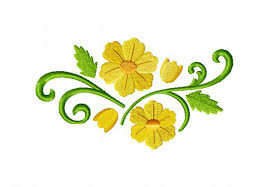 floral spray daffodils floral spray machine embroidery design