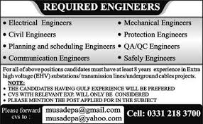 electrical engineering jobs in dubai for freshers jobs in engineering jobs in gulf published in express newspaper on