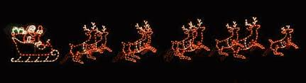 santa s sleigh and lighted outdoor
