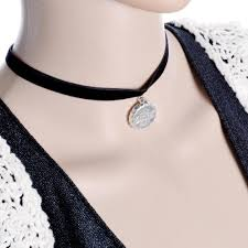 black lace collar necklace images 2018 handmade black lace silver beer bottle neck choker necklace jpg