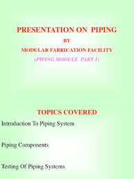 piping presentation l u0026 t pipe fluid conveyance thermal