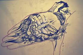 hannya mask hand tattoo design by violet rare on deviantart