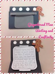 gingerbread man writing and craftivity door opener oven and
