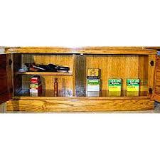 Wood Gun Cabinet 12 Gun Solid Oak Cabinet Cowboy Safes