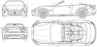black maserati png car blueprints maserati gran blueprints vector drawings