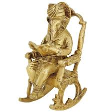 Old Man In Rocking Chair Buy Brass Statue Hindu Art Ganesha God Seated On A Rocking Chair