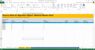 Data Mapping Excel Template Material Master Migration To S 4hana Rds Sap Blogs