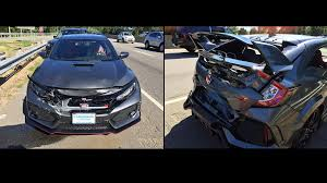 unlucky honda civic type r owner gets rear ended heading home from