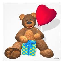 346 best birthday invitations bear images on pinterest