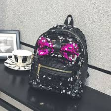 book bags with bows summer models womens casual new sequins bow shoulder tote backpack