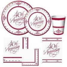 40th anniversary plates pin by sheri bobeldyk on anniversary gifts