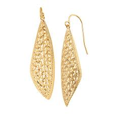 diamond teardrop earrings just gold diamond cut teardrop earrings in 14k gold diamond cut