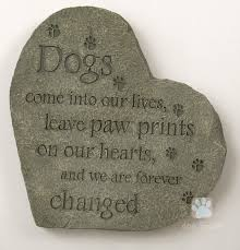 dog memorial pet memorial pawprints on our hearts