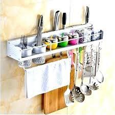 kitchen utensil storage ideas utensil storage utensil rack wall mount kitchen wall racks shelves