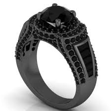black gold engagement ring shop black gold engagement rings on wanelo