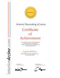 Certified Interior Decorator Certificate