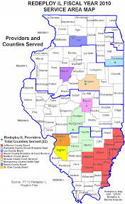 of illinois map dhs map of redeploy illinois