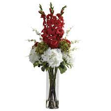 48 inch silk mixed floral arrangement in vase