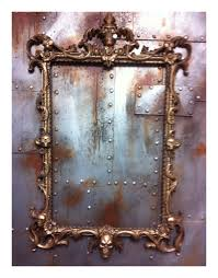antique gold skulls picture frame mirror shabby chic baroque