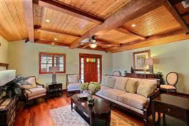 Craftsman Ceiling Fan by Craftsman Living Room With Hardwood Floors U0026 Ceiling Fan In