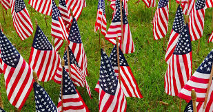 flag decorations for american stock footage 4008784