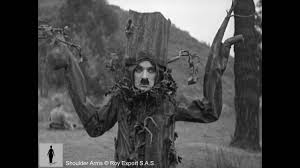 chaplin disguised as a tree shoulder arms clip