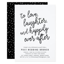after wedding brunch invitation wording laughter happily after gifts on zazzle