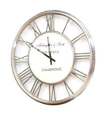 awesome clocks articles with large silver station wall clock tag large station