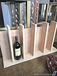 diy wine rack island storage from thrifty decor