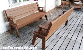 Build A Folding Picnic Table by Diy Picnic Table Bench Howtospecialist How To Build Step By