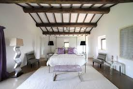 Bedroom Woodwork Designs White Lilac Bedroom Wooden Ceiling Beams Interior Design Ideas