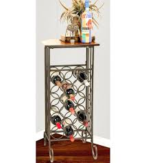 side table wine rack side table tall iron storage cabinet